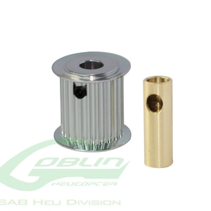 엑스캅터 - Aluminum Motor Pulley 18T (for 6/8mm motor shaft) - Goblin 770/Goblin 700 Competition [H0175-18-S]