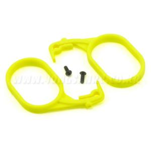 엑스캅터 - Team Losi Fuel Tank Lid Pull Set (Fluorescent Yellow) (2)