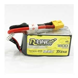 엑스캅터 - Tattu R-Line 1800mAh 100C 4S1P 14.8V lipo battery pack w/XT60 드론배터리