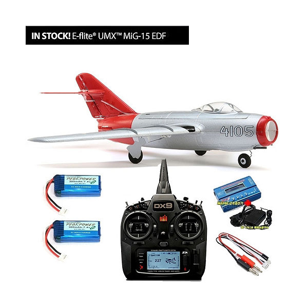 엑스캅터 - E-FLITE(Blade) 미그15 제트전투기 UMX MiG-15 28mm EDF Jet RTF with DX9,Imax B6