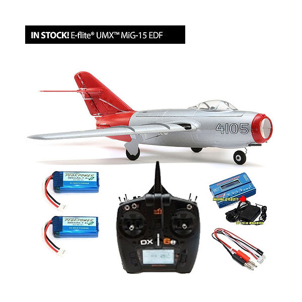 엑스캅터 - E-FLITE(Blade) 미그15 제트전투기 UMX MiG-15 28mm EDF Jet RTF with DX6,Imax B6