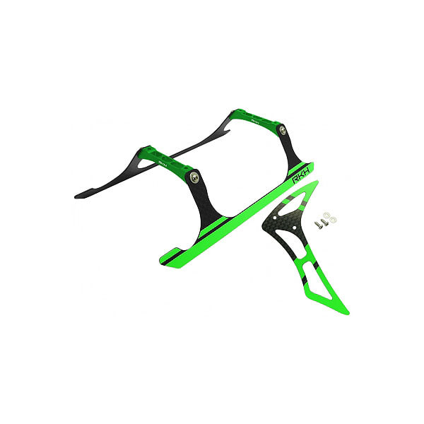 엑스캅터 - 라콘헬리 CNC Landing Gear and Tail Fin Combo (Black-Green) - Blade 230 S 옵션
