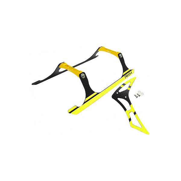 엑스캅터 - 라콘헬리 CNC Landing Gear and Tail Fin Combo (Black-Yellow) - Blade 230 S 옵션