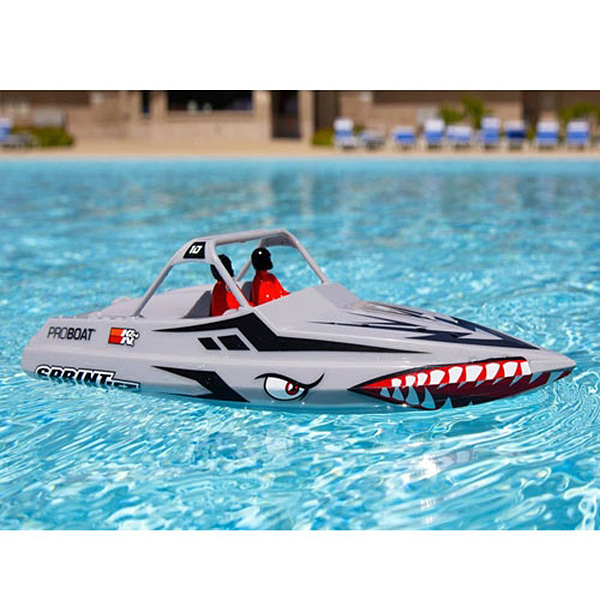 엑스캅터 - PROBOAT Sprintjet 9-inch Self-Right Jet Boat RTR, Silver 조종기 포함