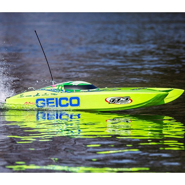 엑스캅터 - PROBOAT 100Km/h + 고속 Miss GEICO Zelos 36 Twin Brushless Catamaran: RTR